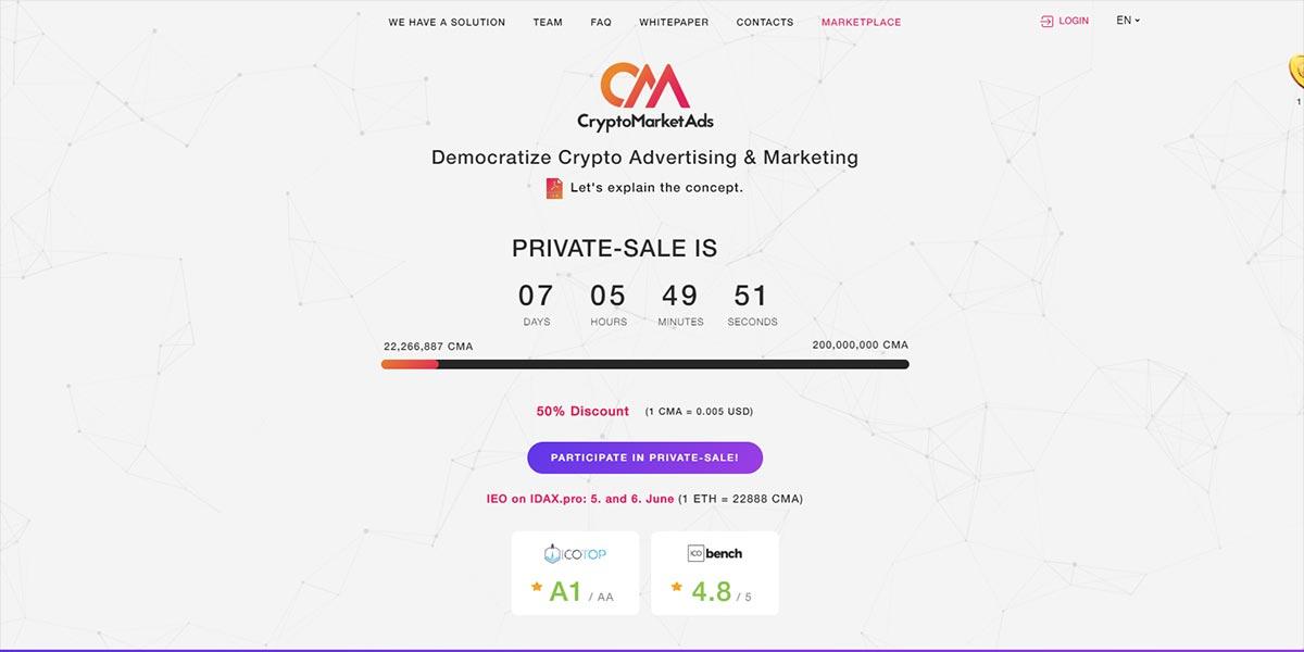 Crypto Market Ads (CMA)