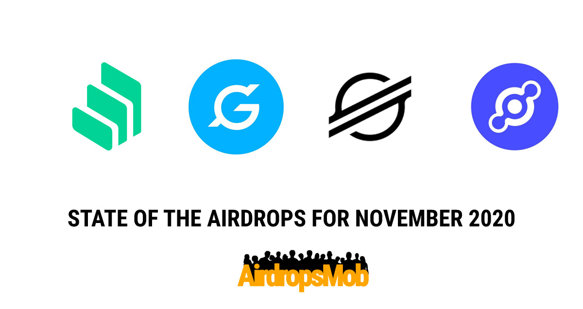 State of the crypto airdrops for November 2020